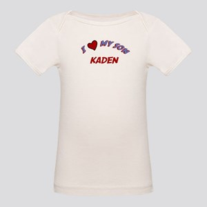 I Love My Son Kaden Organic Baby T-Shirt